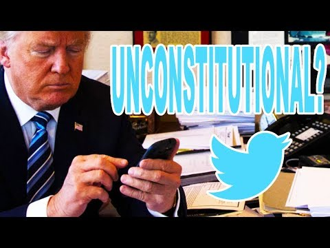 Trump's Twitter Use Might Be Unconstitutional
