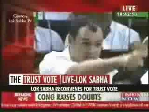 Omar Abdullah for the Confidence Motion Lok Sabha 2008