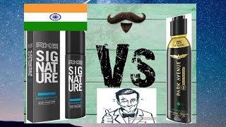 Axe Signature Mysterious Vs Park Avenue Gravitas Perfume Deo in Hindi