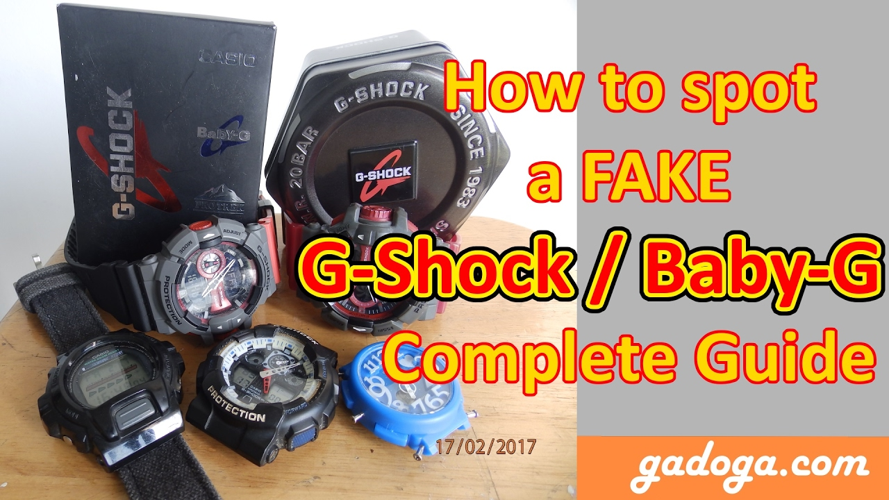 b6a261cfec50 How to spot a Fake G-Shock / Baby-G - Complete Guide - YouTube