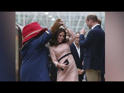 Duchess of Cambridge twirls with Paddington Bear