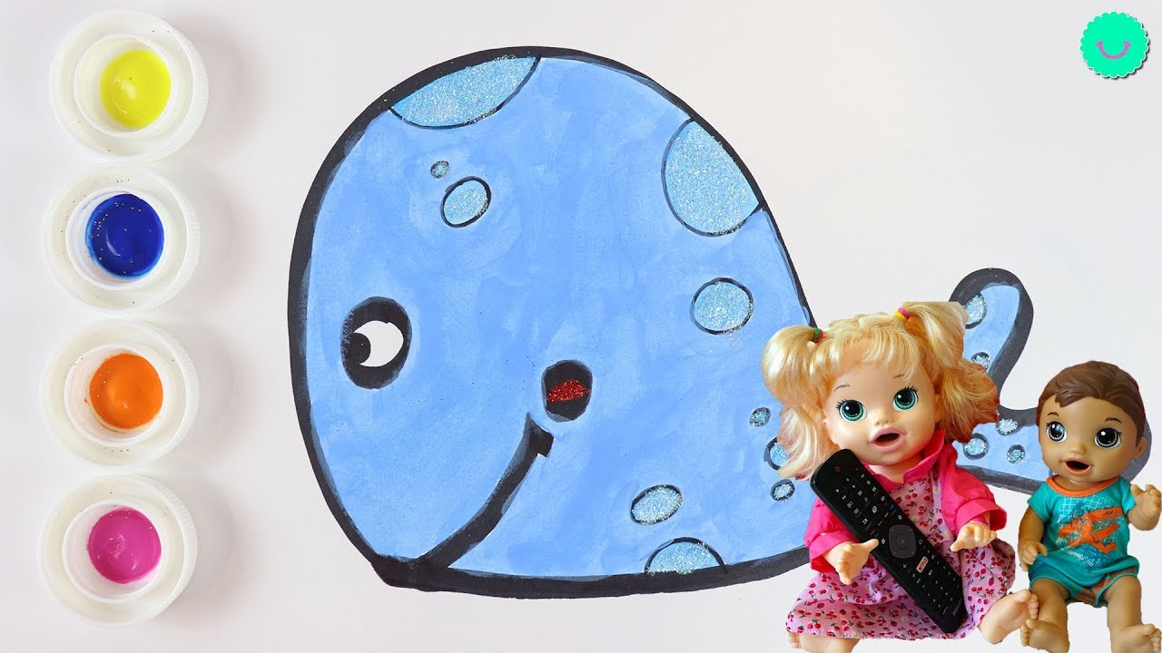 Sara y Luke miran vídeos de Pintar con COLORES para niños