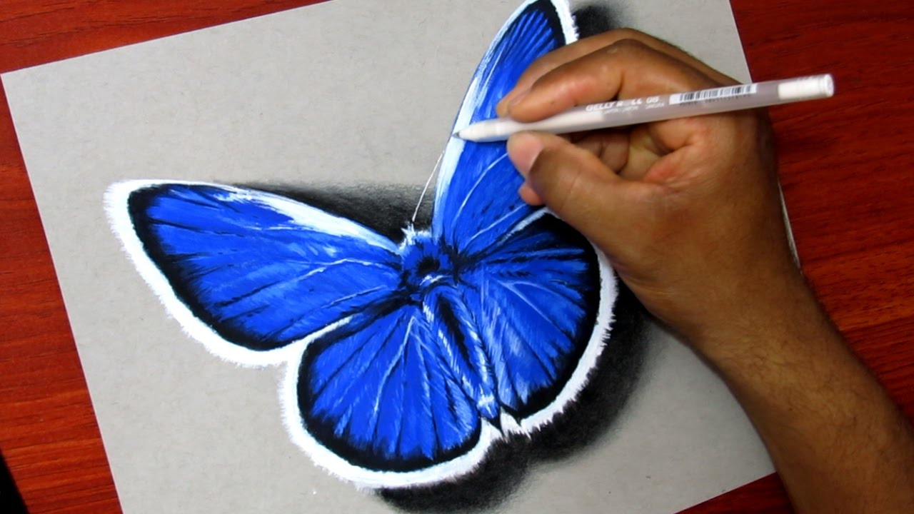 Como Dibujar Una Mariposa - YouTube