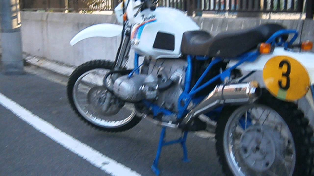 bmw r80gs it is the sound of tailor made muffler produced. Black Bedroom Furniture Sets. Home Design Ideas