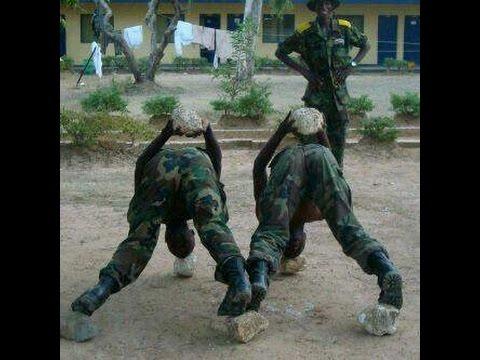 NIGERIAN MILLITARY DRILLING