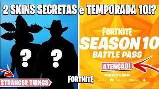 FORTNITE-SKINS LEAKED, NOTICE OF SEASON 10 and BUTTON CONFIRM PURCHASES