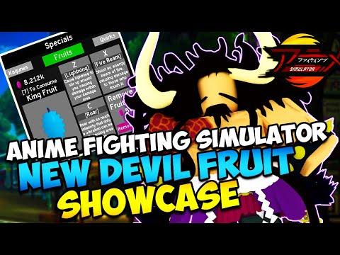 New *DEVIL FRUIT*  (King Fruit) Anime Fighting Simulator