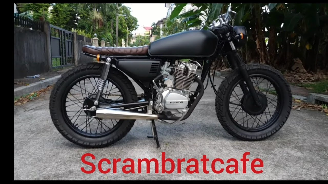 Cg125 Or Tmx125 To Scrambler Brat Cafe
