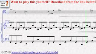 Saint Saens The Swan cello and piano sheet music - Video Score
