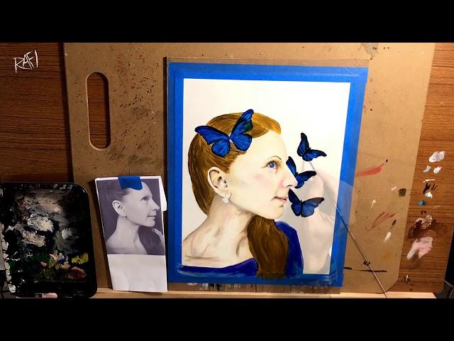 Portrait Painting By Rafi Perez