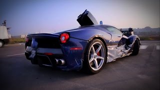Chasing LaFerrari | Blue LaFerrari Start Up, Chasing and Drive by Acceleration Sounds!
