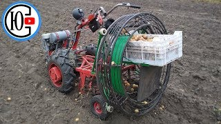 Made a POTATO Harvester for a motor-block! TESTING !!!