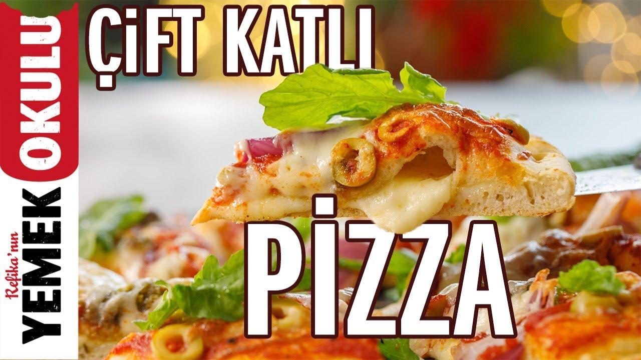 Çift Katlı Pizza Tarifi | Evde Pizza Nasıl Yapılır? | Burak'ın Ekmek Teknesi