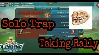 Lords Mobile - Solo Trap Taking Rallies | Aweken Maxed Familiars v/s Solo Trap In Action |