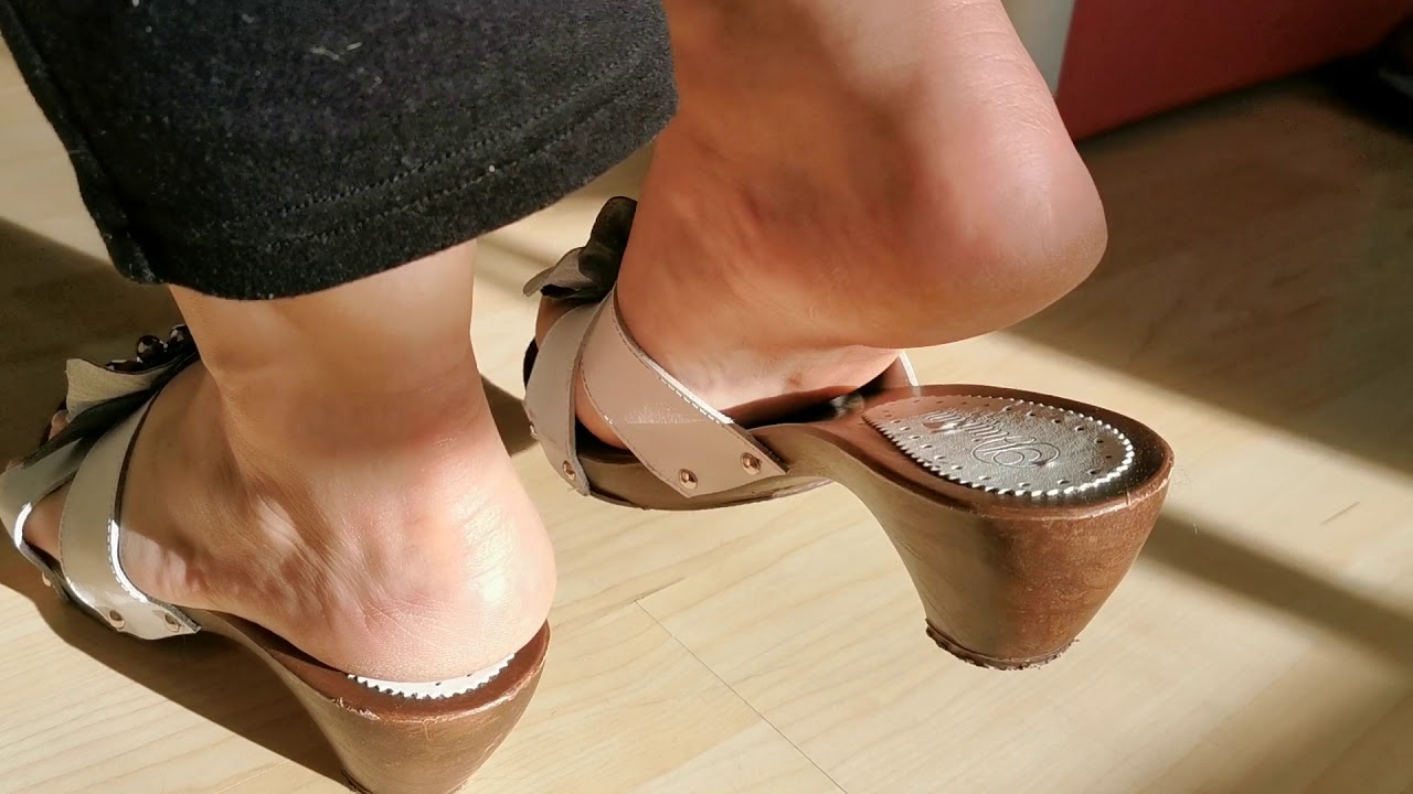 Wood mule and mature feet