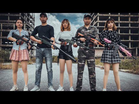 LD Rampage Girl Innocent assassin attack the enemy | guns game nerf guns battle