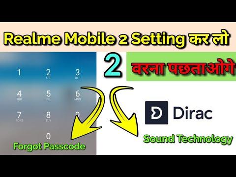 Realme Mobile 2 Very Important Setting   Forgot Passcode & Dirac Sound Technology   Atul Tech Bazaar