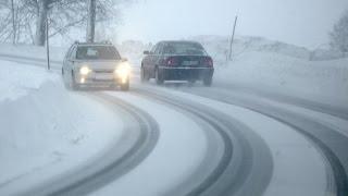 Как безопасно войти в поворот на зимней дороге?