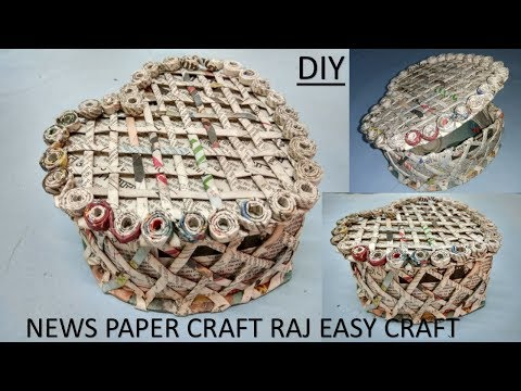 How to make newspaper box | jewelry box | DIY | newspaper craft