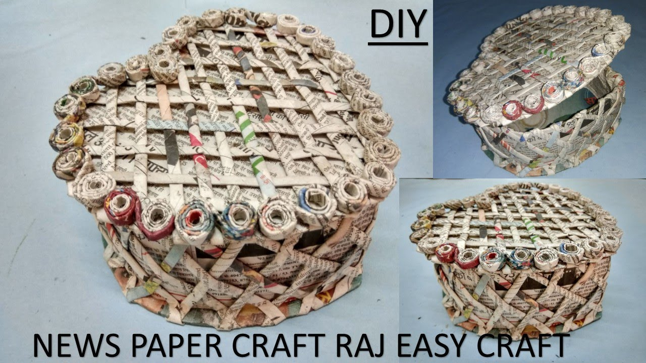 How To Make Newspaper Box Jewelry Box Diy Newspaper