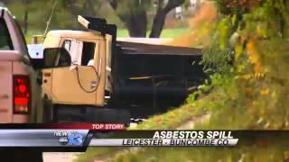 Dump Truck Spills Asbestos