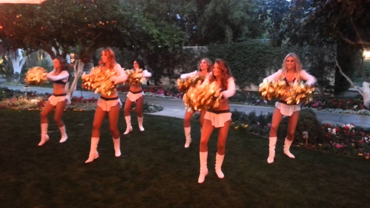 San Diego Chargers Cheerleaders At Big Red Psrty Youtube