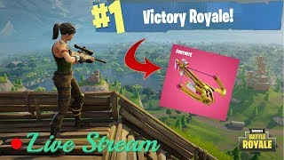 NEW CROSSBOW AND VALENTINES UPDATE! // SUPER SICK STREAMER🤒 // FORTNITE BATTLE ROYALE PC