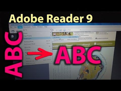 How to rotate PDF pages using Adobe Reader 9
