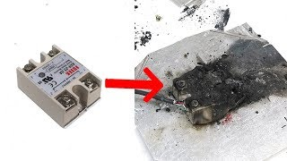 Spectacular solid state relay failure