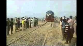 mainpuri to etawah railline test 31 jan 2016