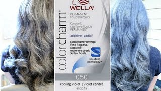how to get gray hair wella cooling violet 050