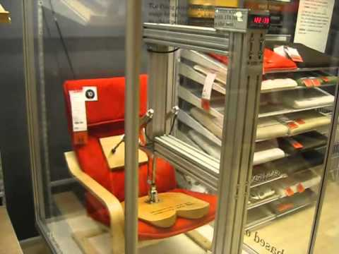 ikea store chair durability neumatic testing contraption. Black Bedroom Furniture Sets. Home Design Ideas