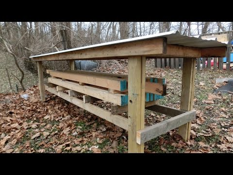 Building a Lumber Rack for Organizing Wood