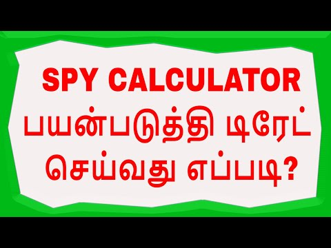 TECHNCIAL ANALYSIS - PART 2: SPY LEVELS CALCULATOR (TAMIL)