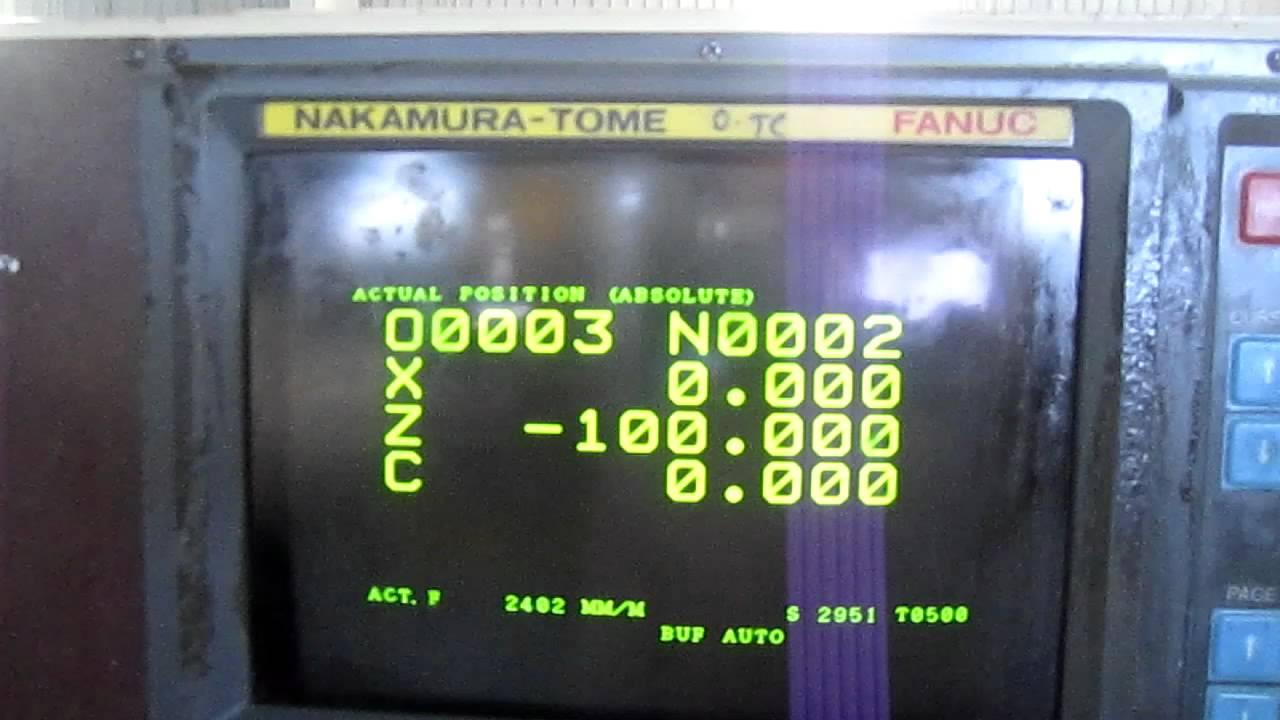 Cnc Lathe Nakamura Tmc-15   Fanuc Ot  1989