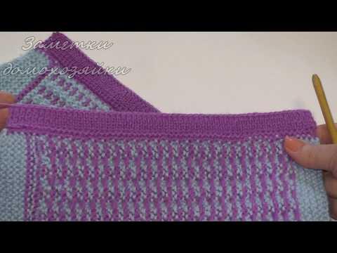 Вязание крючком планок кофточки