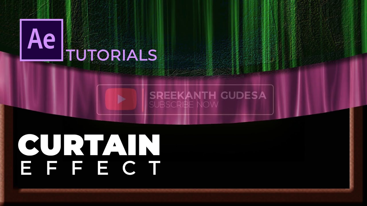 Simple and Beautiful Curtain Opening Animations - After Effects Tutorials (No Plugins)
