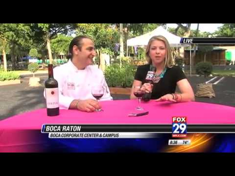 WFLX FOX 29 goes LIVE at 4th Boca Raton Wine & Food Festival Friday, November 8th, 2013