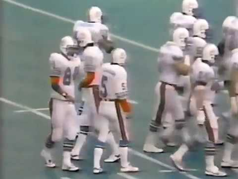 1982 Wk 11 Miami Wins at Buffalo 9-7; Highlights With Radio Call