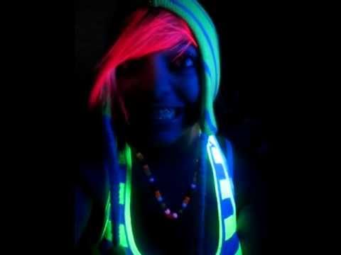 atomic pink hair dye glows youtube