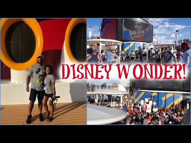 BOARDING THE DISNEY WONDER! | Cruise Vlog Day 1