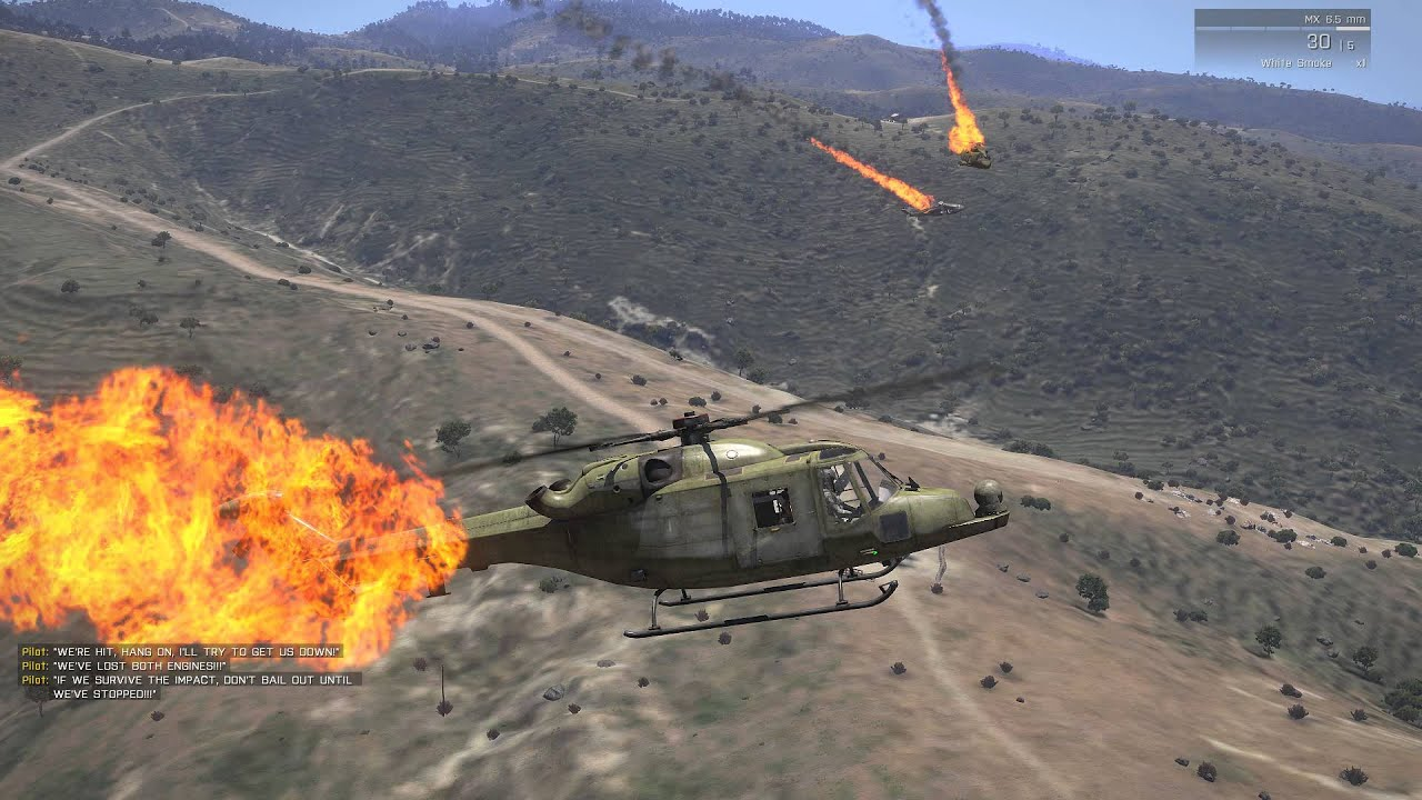 Arma 3 Elicottero : Arma survivable helicopter crash script all choppers