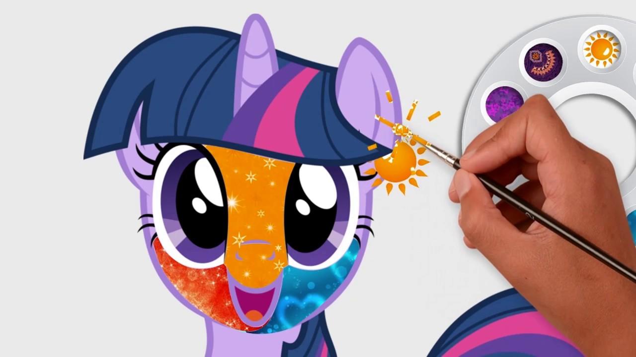 Princess Twilight Sparkle Coloring Page 287 ... |Twilight Sparkle Face Coloring Page