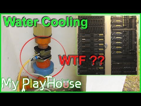 Experimenting with DIY Water Cooling Data Center Air Intake