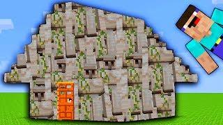 НУБ ПРОТИВ ДОМА ИЗ ГОЛЕМОВ 💀 ~ 100% ЗАЩИТА ОТ НУБА   ТРОЛЛИНГ НЕВИДИМКОЙ В Minecraft Мультик