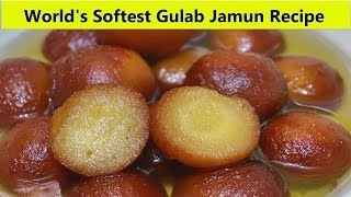 வெடிப்பு இல்லாத பஞ்சி போன்ற குண்டு குலாப் ஜாமுன்   Soft & Fluffy Gulab Jamun Recipe in Tamil
