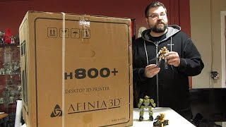 Unboxing and review of Afinia 800+ 3D Printer