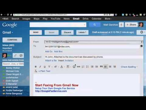 Online Email to Fax Tutorial