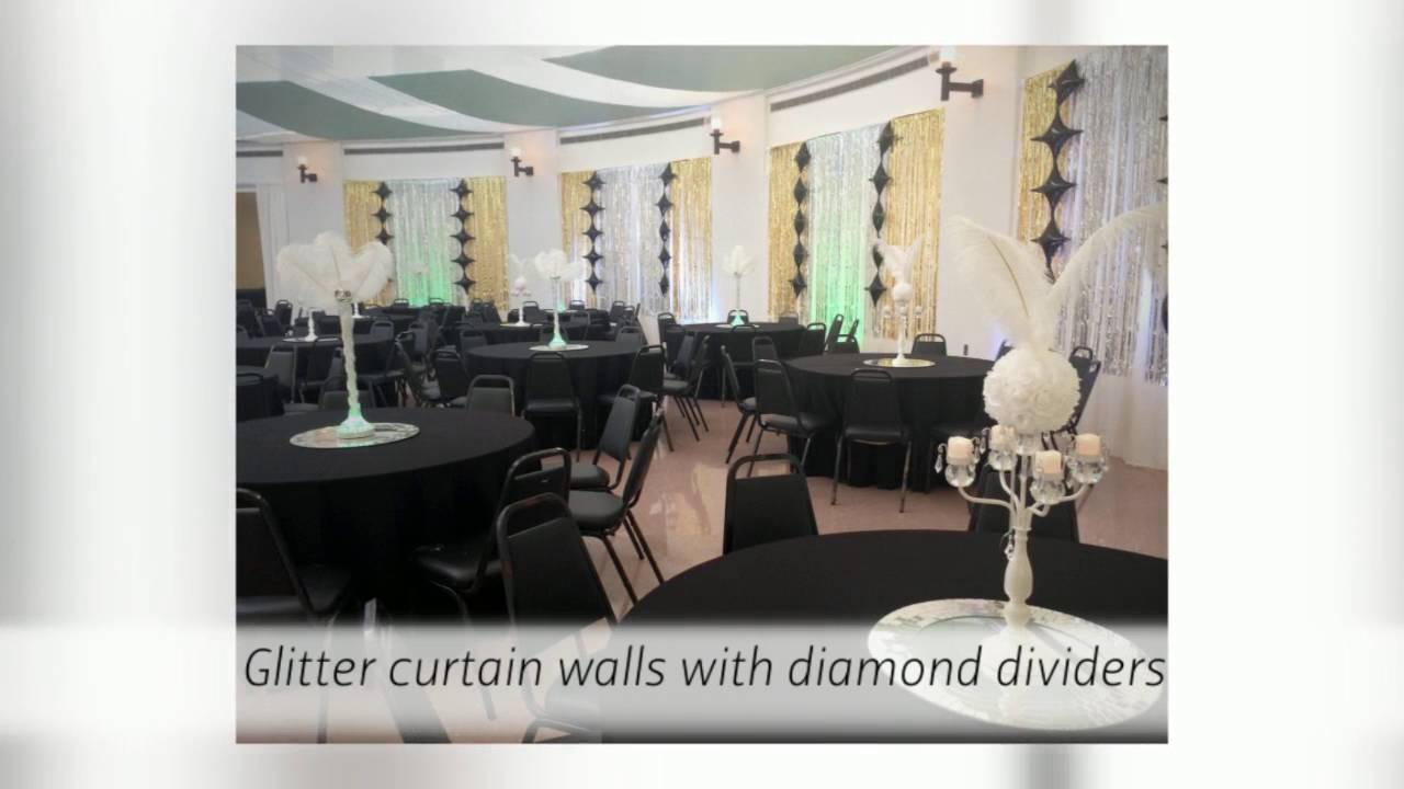 Gatsby Themed Prom by Blank Canvas Event Decorating - YouTube