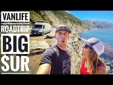 Big Sur California Road Trip in our DIY Campervan Vlog #Vanlife | Adventure in a Backpack